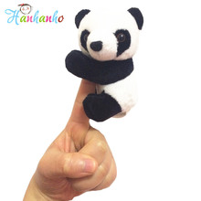 Super Cute Plush Panda Clip Toy Mini Stuffed Animal Bookmark Notes Funny Toy Gift For Children 10cm(China)