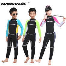 1.5mm Kids Neoprene Wetsuit Boys and Girls Diving Suit Surfing Snorkeling Clothes Children One Piece Scuba Diving Swimming Suit