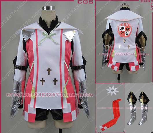 Anime Tales of Zestiria Alisha Cosplay Costume with shoe covers Halloween Uniform Full Set Any Size