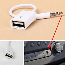 Ascromy Jack 3.5 AUX Audio Plug To USB 2.0 Converter Aux Cable Cord For Car MP3 Speaker U Disk USB flash drive Accessories 10PCS