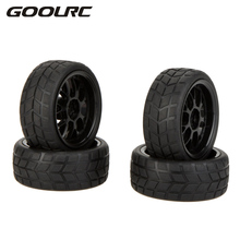 GOOLRC 4 Pcs Original High Performance Rubber 1/10 Rally Car Wheel Rim and Tire for Traxxas Tamiya HPI Kyosho RC Car
