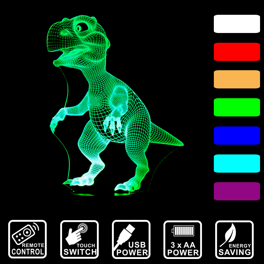 Dinosaur 3D LED Lamp 1
