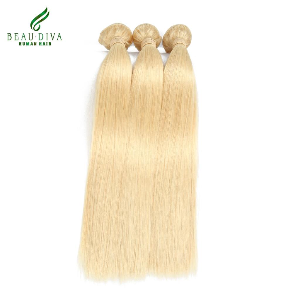 High Quality 3Pc 613 Platinum Blonde Virgin Hair Peruvian Virgin Hair Straight Hair Extension 613 Color 10 to 24 inch Hair<br><br>Aliexpress