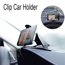 New Car Phone Holder for iPhone 6 7 Plus Dashboard Cradle Mouth Holder Pop Socket Clip for Navigation Samsung Xiaomi Huawei GPS