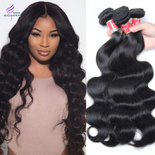 6A Peruvian Virgin Hair Body Wave 4 Bundles Peruvian Body Wave Human Hair Weave Bundles Modern Show Hair Products Bundle Deals