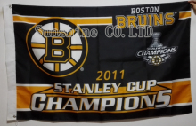 Boston Bruins 2011 Stanley Cup Champions Flag hot sell goods 3X5FT 150X90CM Banner brass metal holes BB6(China)