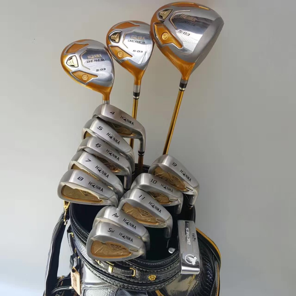 complete sets golf clubs Driver+Fairways+Irons puttes Steel Graphite g30 irons right hand Regular Stiff(China)
