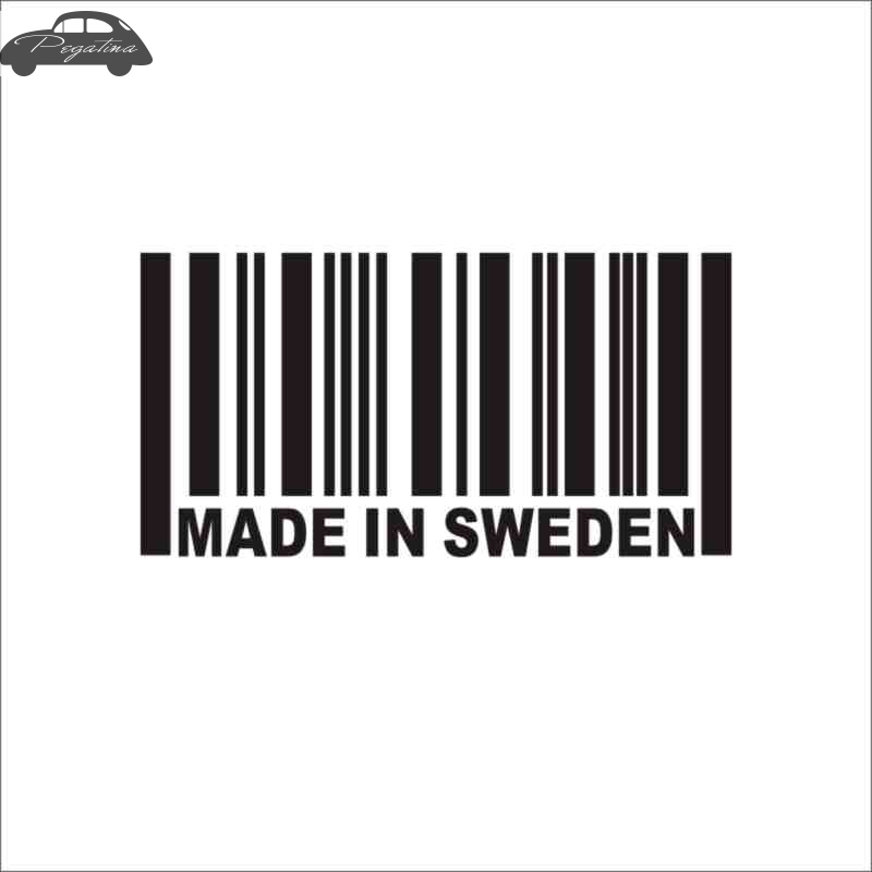 Pegatina Made in Sweden Decal Sticker Car Window Vinyl Decal Funny Poster Motorcycle