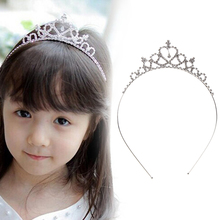 1pcs Baby Girls Princess Hairband Child Party Bridal Crown Headband Crystal Diamond Tiara Hair Hoop Hair bands Accessories(China)
