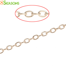 8SEASONS Link-Opened Cable Chains Findings rose gold color 3.5mm x 3mm,10M (B32550)