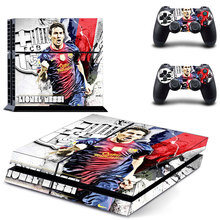 Ps4 Skin 1Set Wholesale Price Football Messi PVC Vinyl Decal Skin Stickers For Playstation 4 Console PS4 Games