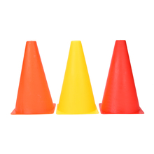 "New 6Pcs 9"" Agility Football Training Cones Soccer Sports Field Drill Markers Orange,Red,Yellow"