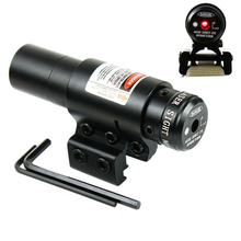 Red Dot Laser w/Mount Adjustable 11mm 20mm Picatinny Rail Hunting Airsoft Air Guns Red Dot Laser Tactical Optics Huntting Tools