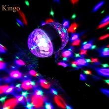 New Double Head LED Stage Lights RGB Crystal Ball Rotating Lights 6 Leds E27 3W KTV Bar Disco Party Decora Lamp