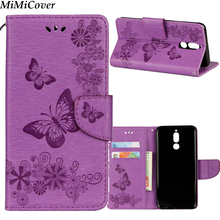 30pcs/lot For Huawei Honor 9i Nova 2i Butterfly Stand Case Wallet Leather Case With Hand Strap For Huawei Mate 10 Lite Maimang 6(China)