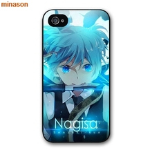 minason Anime Japanese Assassination Classroom Cover case for iphone 4 4s 5 5s 5c 6 6s 7 8 plus samsung galaxy S5 S6   H2982