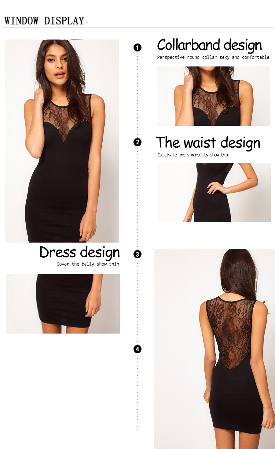 Pitsist seljaosaga must kleit