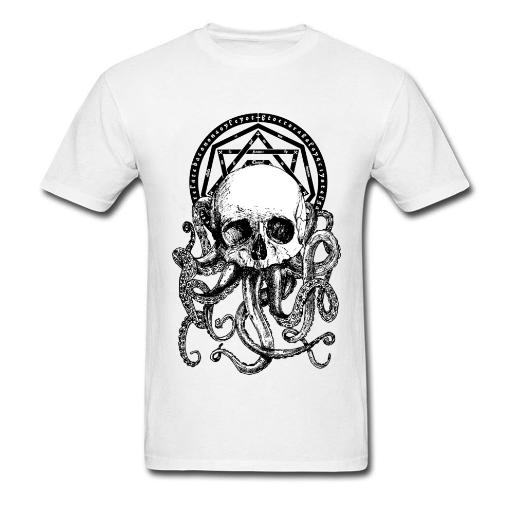 Pieces of Cthulhu Family Adult T Shirt O Neck Short Sleeve Pure Cotton Tops Shirts Geek T Shirt Wholesale Pieces of Cthulhu white