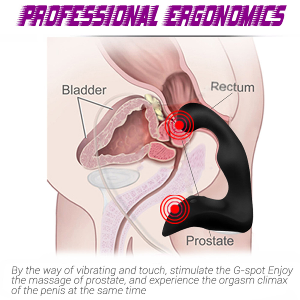 Prostate Massage Anal Plug for Men, G Spot 2 Motor Vibrator Butt Plug Clitoris Masturbator, Gay Anal Plug Adult Sex Toys for Man 2