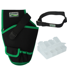 Free Shipping Pro'skit Electrician Tool Bag Pounch Waist Tool Belt Holder Hand Tool Set +Free Tool Case Electrical Drill Holster(China)