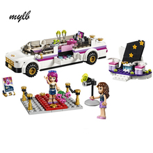 mylb 278Pcs Friends Pop Star Limo Building Kit Sets Friends For Girl Blocks Girl Friends Toys DIY(China)