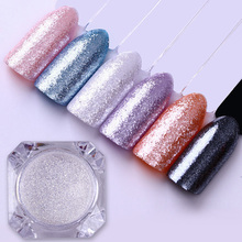 1g 1.5g Nail Glitter Diamond Pearl Mermaid Powder Shining White Glitter Powder Dust Manicure Nail Pigment 3 Colors(China)