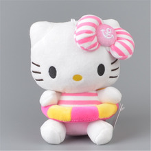Swim Ring Hello Kitty Stuffed Plush Toy, Baby Kids KT Doll Gift Free Shipping(China)