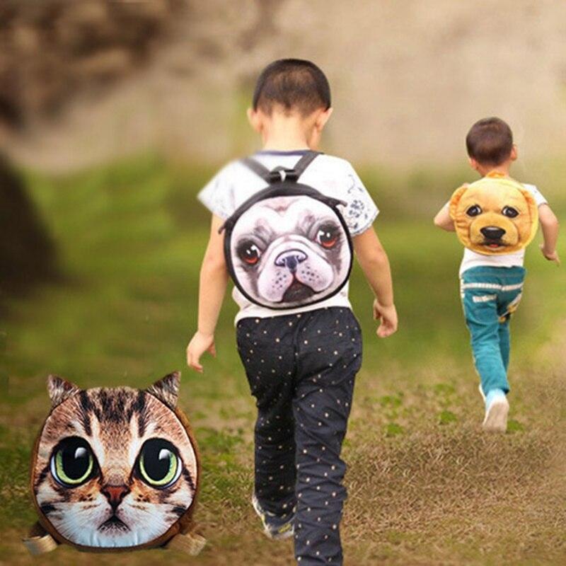 Children School Bags Cute 3D Animal Cat Dog Schoolbag For Girls Casual Kids Women Shoulder School Book Bag Mochila Escolar<br><br>Aliexpress