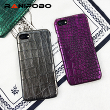 Phone Case For iphone 7 7 Plus 6 6s Plus Retro Crocodile Snake Leather Print PC Hard Protective Back Cover Couque For iphone 7