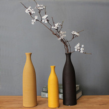 European style colorful Ceramic Vase creative tabletop Vase Wedding Gifts office Home decor Handicraft Furnishing Articles