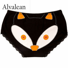 Alvalean 2017 briefs for women cheap cotton panties fox underwear girls panty breathable intimate lingeries femme sale MU1072