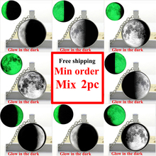 Buy 2017 New Glowing Dark Full Glowing Moon Glass Necklace Womens Glowing Fashion Jewelry Glass Dome Pendant Necklace HZ1 for $1.15 in AliExpress store