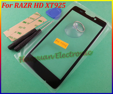 Black Color Original New Replacement Part Outer LCD Screen Lens Top Glass For Motorola Droid Razr Maxx HD XT925 Free Shipping(China)