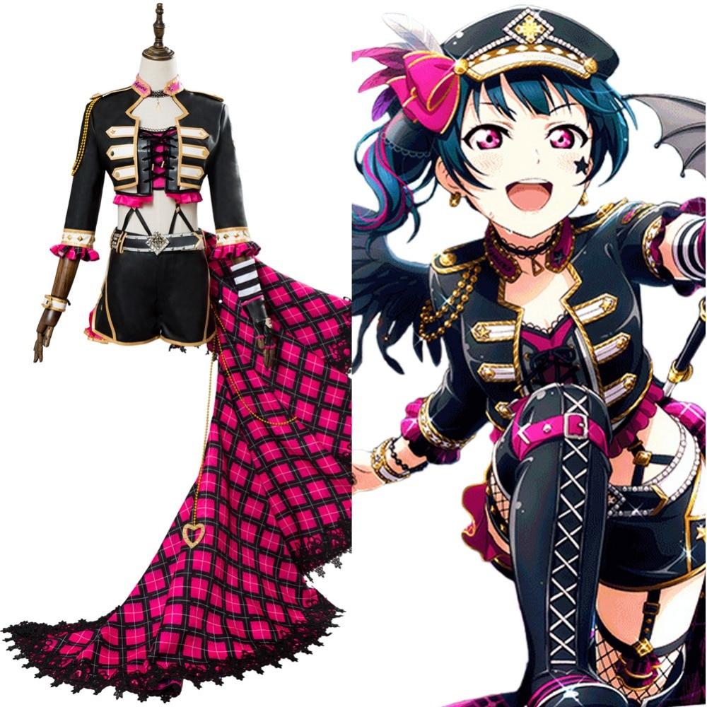Love Live!Aqours Sakurauchi Riko Punk Rock Cosplay Costume Suit Dress Uniform