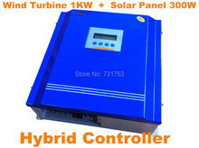 Wind&Solar Hybrid Controller With Communication LCD Display For Wind Turbine1KW + PV Model 300W,Rated Battery Voltage 24V Or 48V