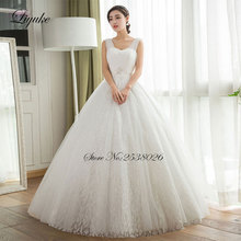Buy Liyuke Gorgeous Tulle Floor Length Lace 2017 Wedding Dress Sleeveless Regular Ball Gown Bride Dresses New Arrival for $187.09 in AliExpress store