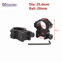 "Tactical Medium Profile 1"" Scope Rings For Rifle Fit Weaver Picatinny Rail 20mm Rifle Pistol Airsoft Gun Hunting Caza"