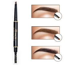 Double-ended Eyes Makeup High Quality Eye Brow Pencil With Mascara Waterproof Pigment Black Brown Eyebrow 3D Pen Makeup(China)