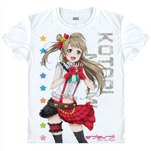 love live T-Shirt Eli Ayase Shirt colorful T shirts Anime Accessories awesome shirt Print Womens T-Shirts Cosplay Anime shirt a