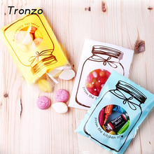 Tronzo 100pcs/lot Party Decoration Candy Bag Lovely Bottle Pattern Self-adhesive Cookies Bag Wedding Christmas Halloween 7x10cm