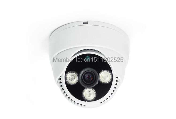 dome CCTV camera Best price 700TVL CMOS  3 Pcs array led IR Day/night indoor 15 meters night free shipping<br><br>Aliexpress