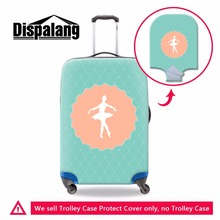 Dispalang Fashion Dancing Ballet Girl Pattern Suitcase Dust Protect Cover Waterproof Travel Accessories Supplies Luggage Cover