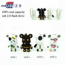 Wholesale 4 styles Cute Animal Bear usb flash drive pet pen drive cartoon pendrive 4GB 8GB 16GB 32GB memory stick u disk
