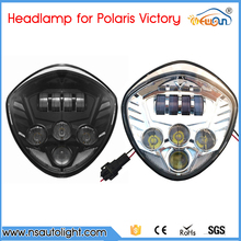 motor accessories Black/Chrome LED Headlight 40W Front Driving Lamp Lights For Victory Motorcycle Cross Country Cross Roads