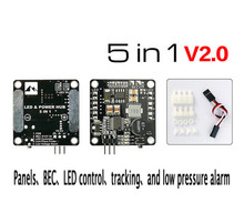 Matek PDB  Power Distribution Board  BEC-5V/12V 3A  Signal Loss Alarm Quadcopter Finder with 2-6S Lipo Low Voltage Buzzer