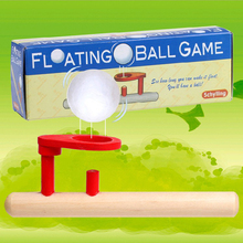 Floating ball game Wooden outdoor toys set Sport toys Children gifts Blowing game Water paint+Smooth edges Advertising giveaways(China)