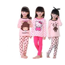Childrens Girls Hello Kitty Swan Pajamas Sets Kids Boys Xmas 2 pcs pyjamas Sets Autumn Winter Sleepwear Cotton pajamas Set W143