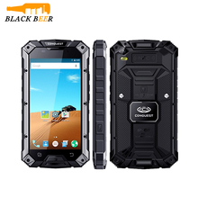 Conquest S6 IP68 Waterproof Android Rugged Smartphone 3GB RAM 32GB ROM 4G LTE 5.0Inch NFC 6000mAh battery 13.3MP phone S8 M2