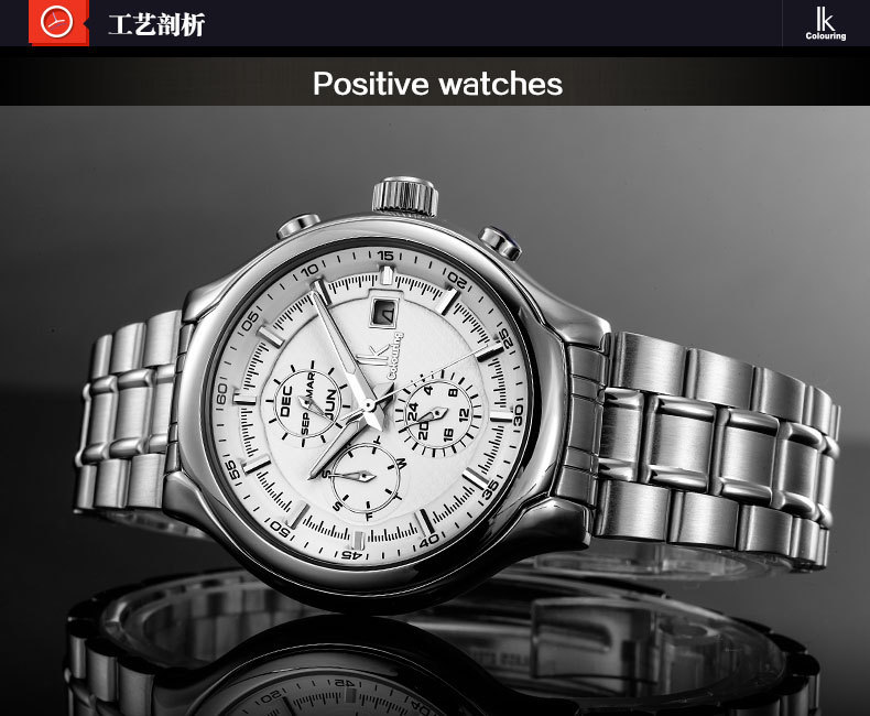 Luxury Men Sapphire Crystal Dress Watches Business Automatic Analog Clock 100% Full Steel Calendar Timepiece 3ATM Relojes NW2762<br><br>Aliexpress