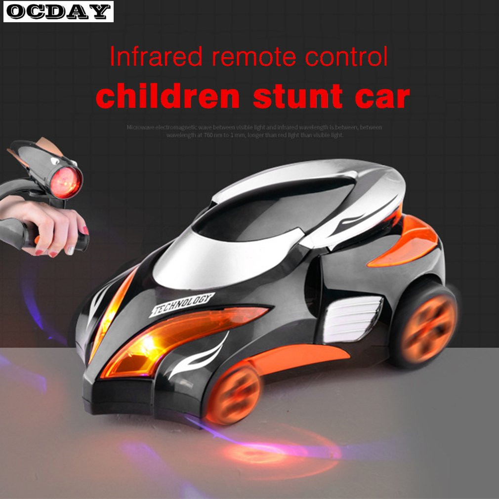 Childs Remote Control Car Toy Infrared Tracking Stunt Car Electronic Car Toy Boys Toy Birthday Gift Sound Light RC Car